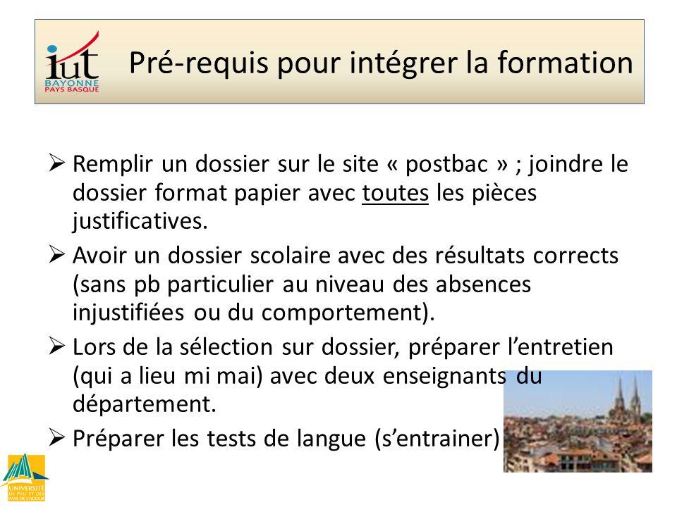 Remplir un dossier sur le site « postbac » ; joindre le dossier format papier avec toutes les pièces justificatives. Avoir un dossier scolaire avec de
