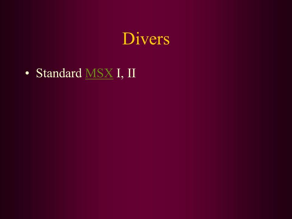 Divers Standard MSX I, IIMSX
