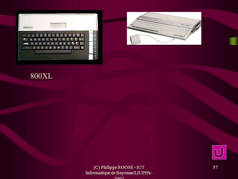 (C) Philippe ROOSE - IUT Informatique de Bayonne/LIUPPA - 2002 57 800XL