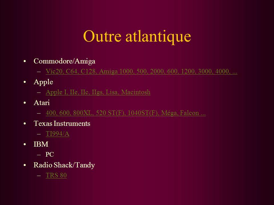 Outre atlantique Commodore/Amiga –Vic20, C64, C128, Amiga 1000, 500, 2000, 600, 1200, 3000, 4000,...Vic20, C64, C128, Amiga 1000, 500, 2000, 600, 1200
