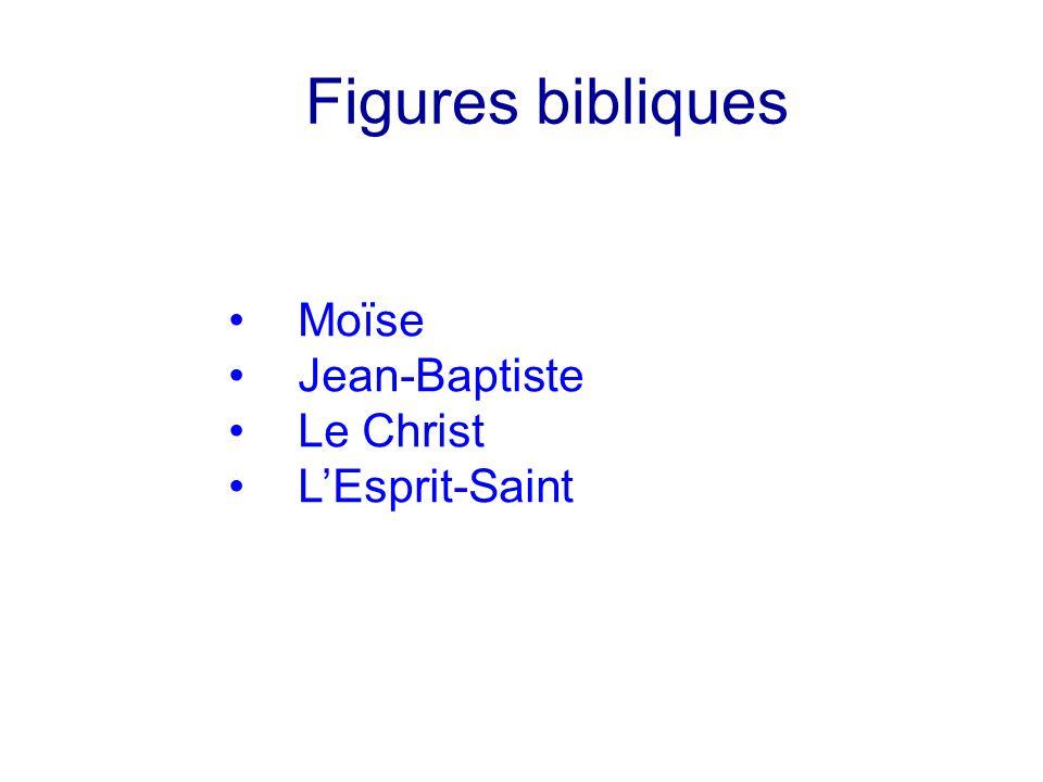 Figures bibliques Moïse Jean-Baptiste Le Christ LEsprit-Saint