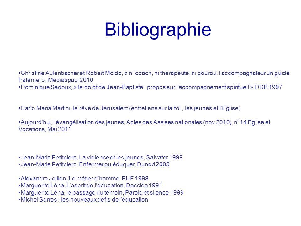 Bibliographie Christine Aulenbacher et Robert Moldo, « ni coach, ni thérapeute, ni gourou, laccompagnateur un guide fraternel », Médiaspaul 2010 Domin