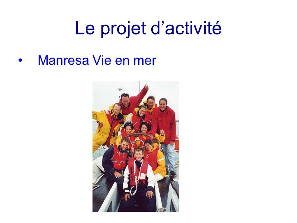 Le projet dactivité Manresa Vie en mer