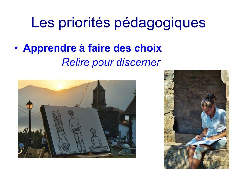 Les priorités pédagogiques Apprendre à faire des choix Relire pour discerner