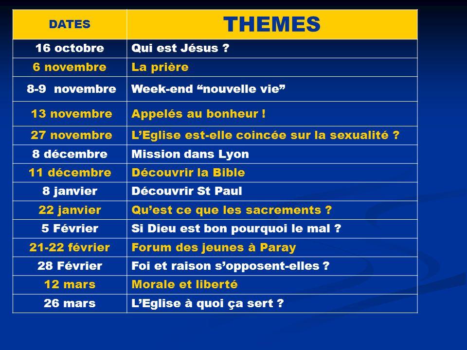 Liste et dates des fêtes musulmanes DATES THEMES 16 octobreQui est Jésus .