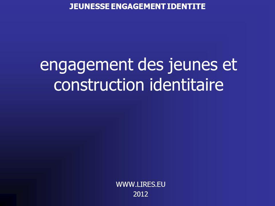 engagement des jeunes et construction identitaire WWW.LIRES.EU 2012 JEUNESSE ENGAGEMENT IDENTITE