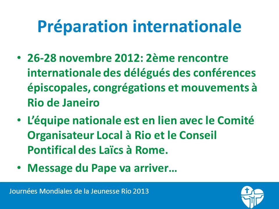 Préparation internationale 26-28 novembre 2012: 2ème rencontre internationale des délégués des conférences épiscopales, congrégations et mouvements à