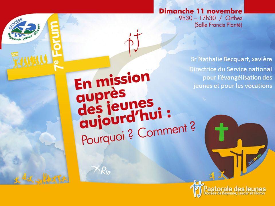 Sr Nathalie Becquart, xavière Directrice du Service national pour lévangélisation des jeunes et pour les vocations