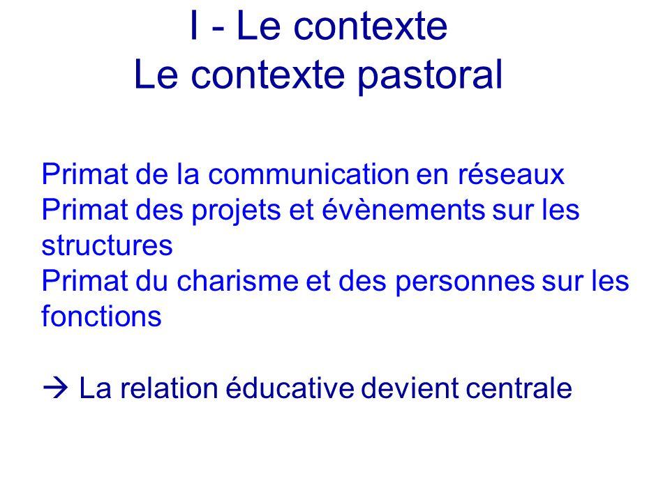 Primat de la communication en réseaux Primat des projets et évènements sur les structures Primat du charisme et des personnes sur les fonctions La rel