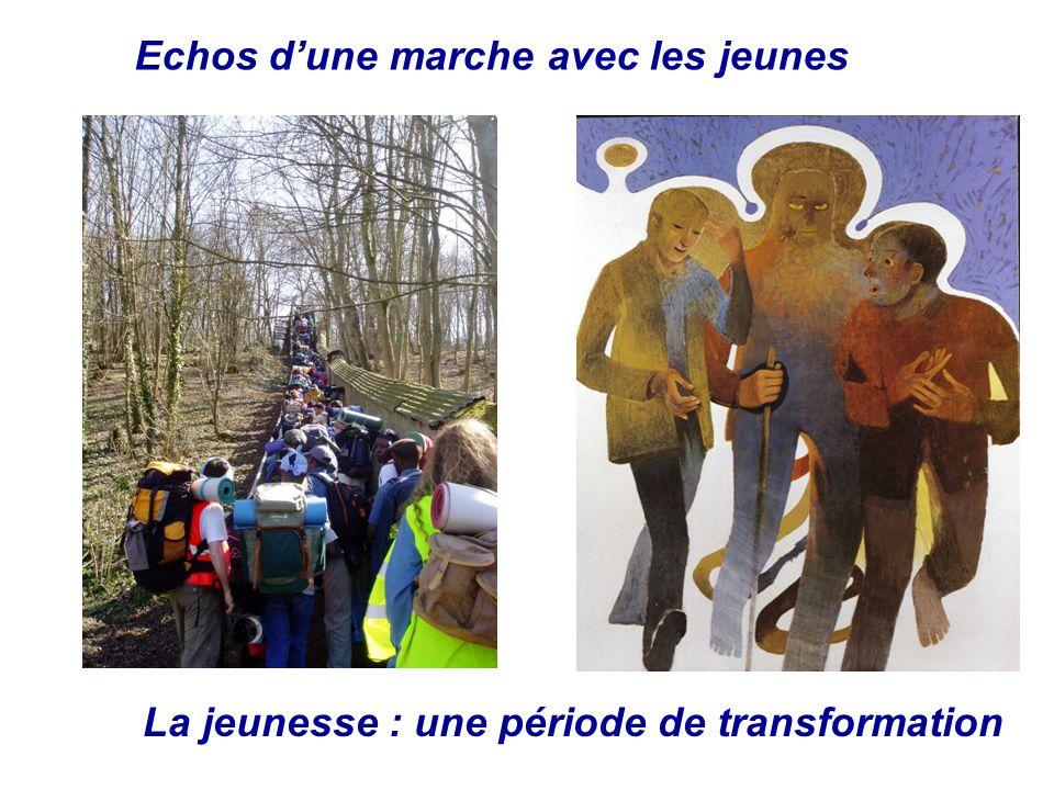 Echos dune marche avec les jeunes La jeunesse : une période de transformation