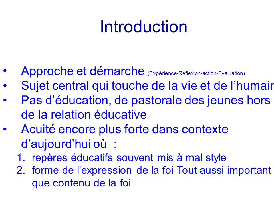 Conclusion Un cadre pour une expérience gratuité et itinéraire la pédagogie du choix la pédagogie dinitiation Relation éducative et cadre institutionnel