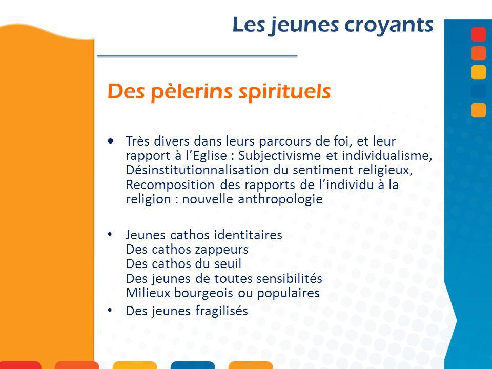 Des pèlerins spirituels Les jeunes croyants Très divers dans leurs parcours de foi, et leur rapport à lEglise : Subjectivisme et individualisme, Désin