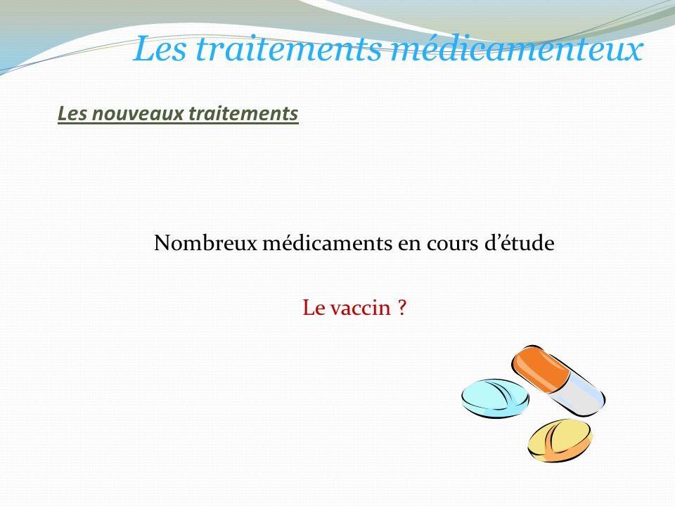 Les nouveaux traitements Nombreux médicaments en cours détude Le vaccin .