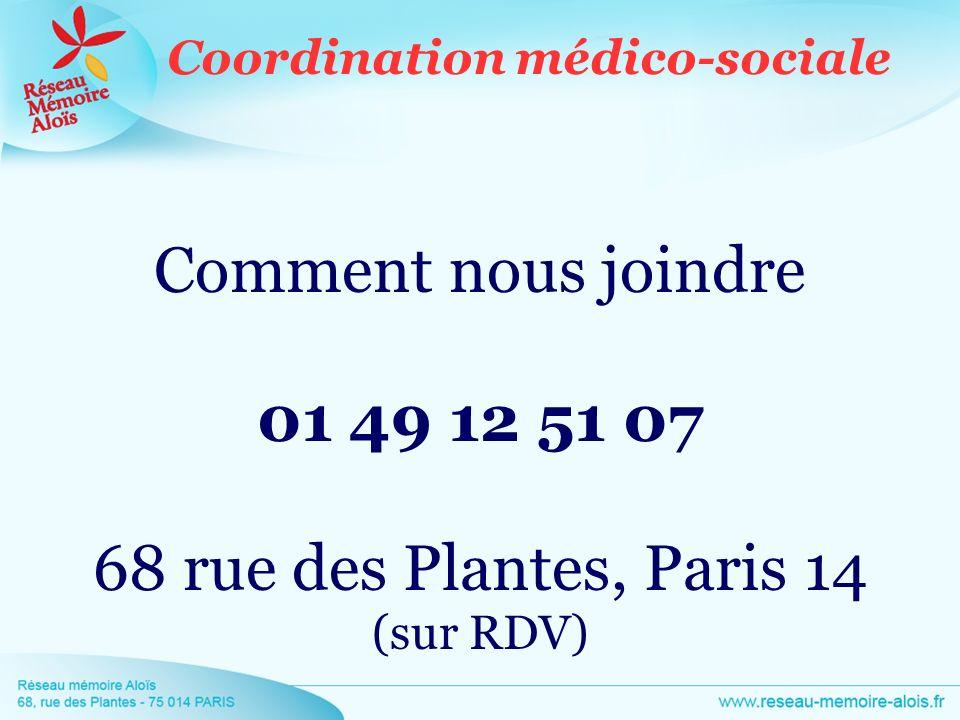 Comment nous joindre 01 49 12 51 07 68 rue des Plantes, Paris 14 (sur RDV)