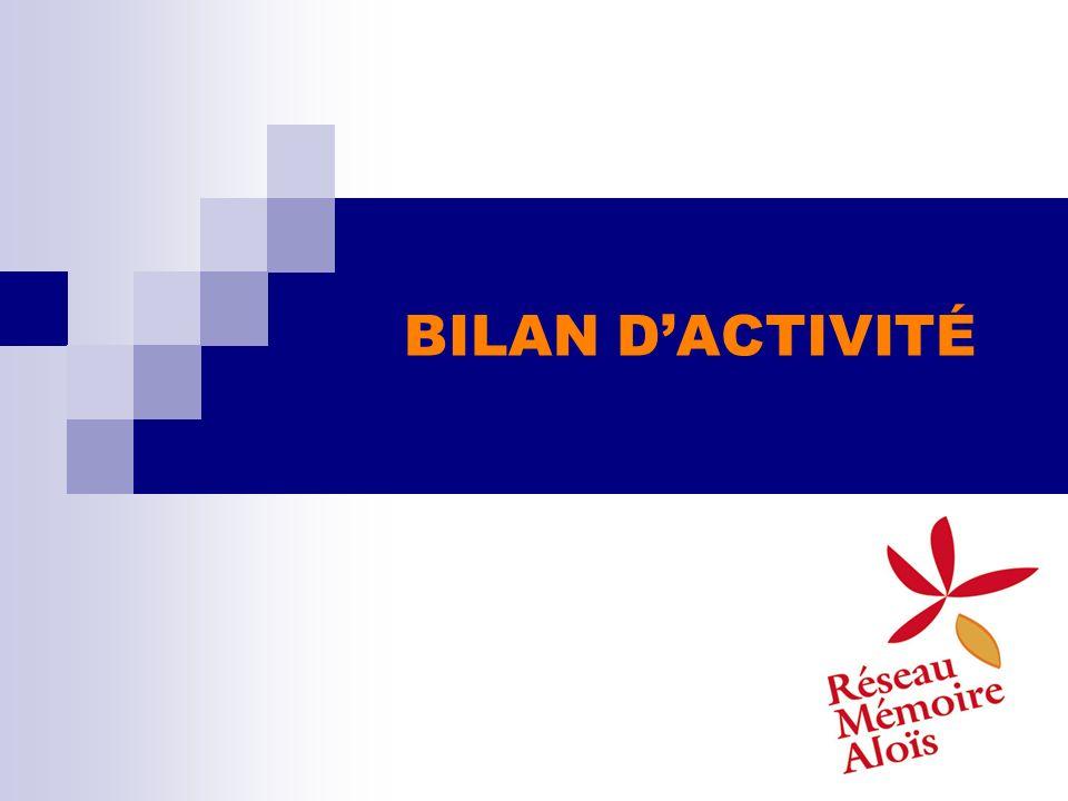BILAN DACTIVITÉ