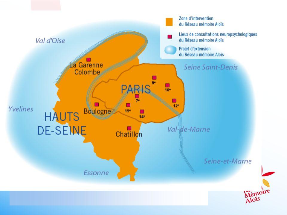 Zone dintervention du réseau Aloïs à partir de 2011