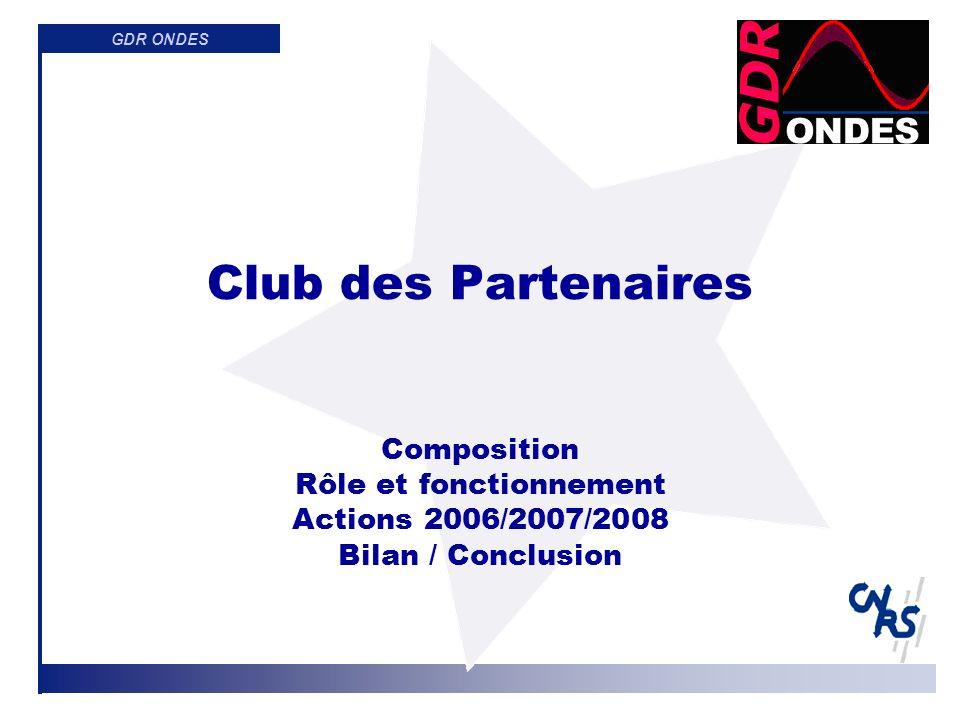 GDR ONDES Membres du Club des Partenaires CESTA LETI LIST