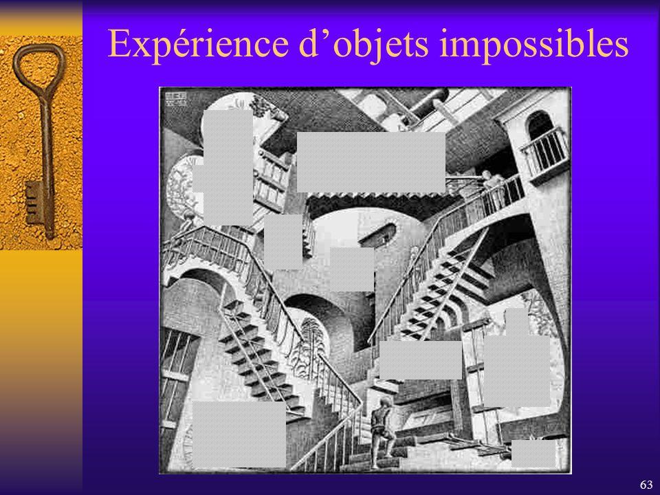 63 Expérience dobjets impossibles