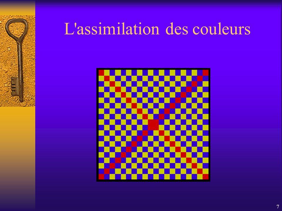 7 L'assimilation des couleurs