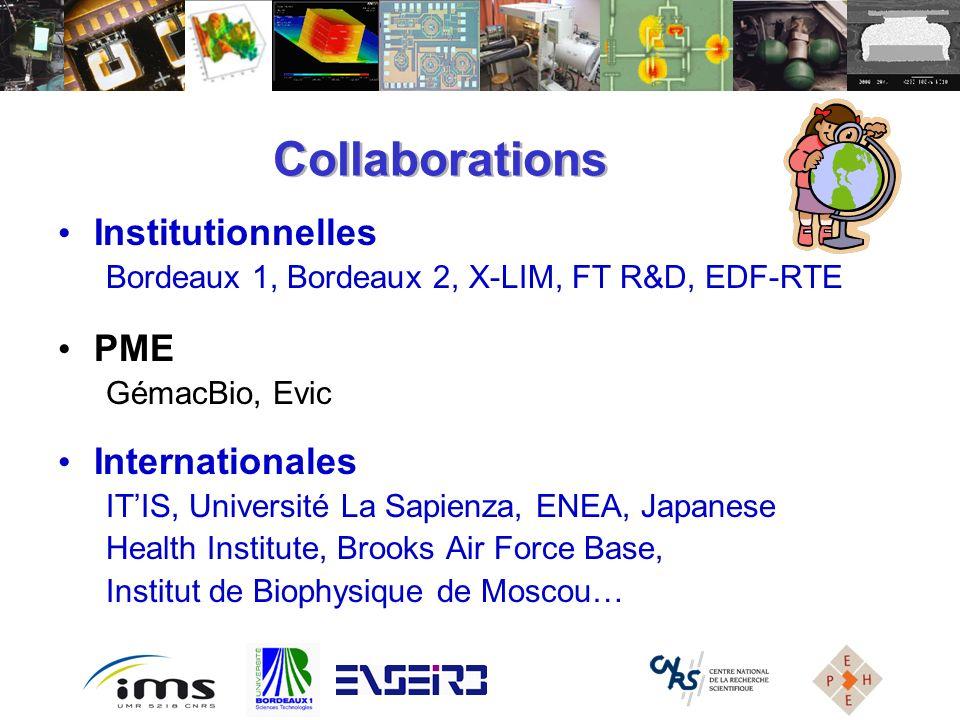 Institutionnelles Bordeaux 1, Bordeaux 2, X-LIM, FT R&D, EDF-RTE PME GémacBio, Evic Internationales ITIS, Université La Sapienza, ENEA, Japanese Healt
