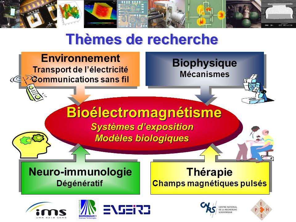 Bioélectromagnétisme Bioélectromagnétisme Systèmes dexposition Modèles biologiques Bioélectromagnétisme Bioélectromagnétisme Systèmes dexposition Modè