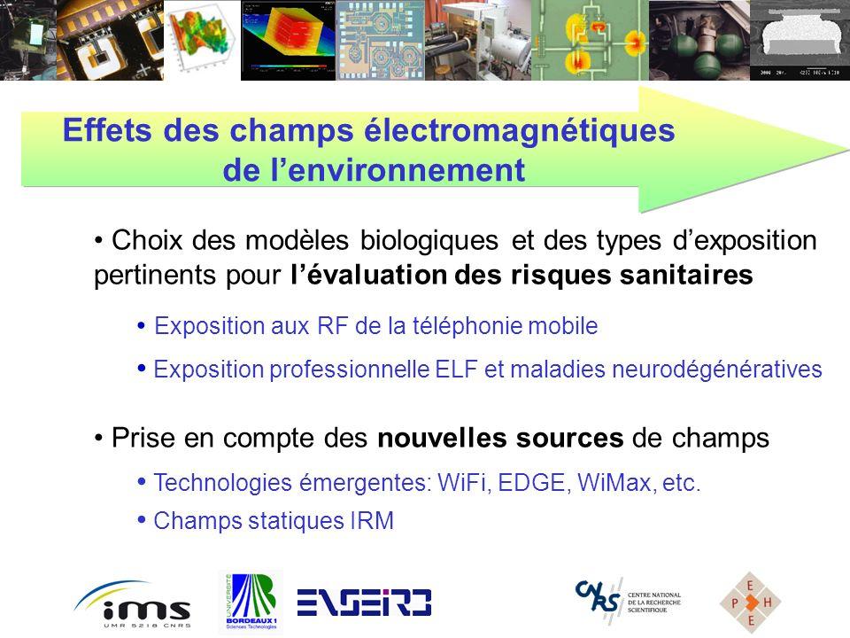 Choix des modèles biologiques et des types dexposition pertinents pour lévaluation des risques sanitaires Exposition aux RF de la téléphonie mobile Ex
