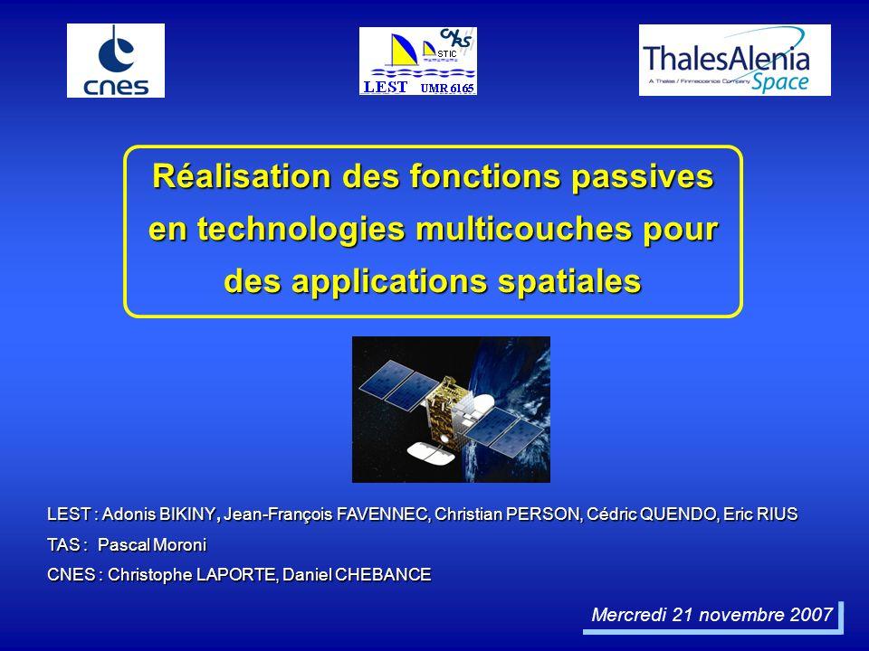 Mercredi 21 novembre 2007 LEST : Adonis BIKINY, Jean-François FAVENNEC, Christian PERSON, Cédric QUENDO, Eric RIUS TAS : Pascal Moroni CNES : Christop