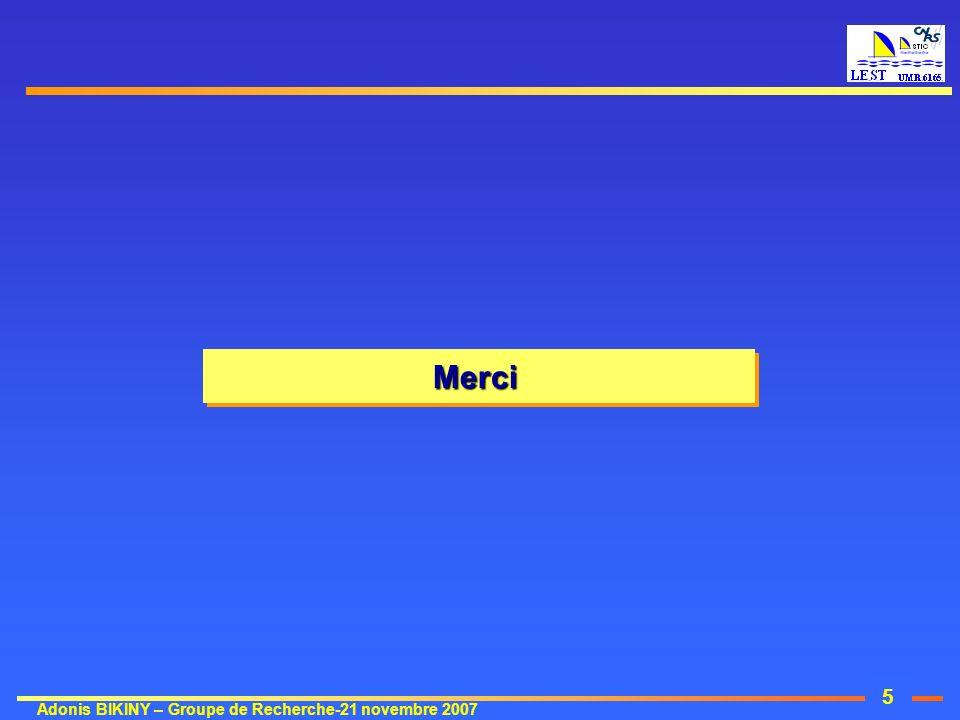 5 Adonis BIKINY – Groupe de Recherche-21 novembre 2007 MerciMerci