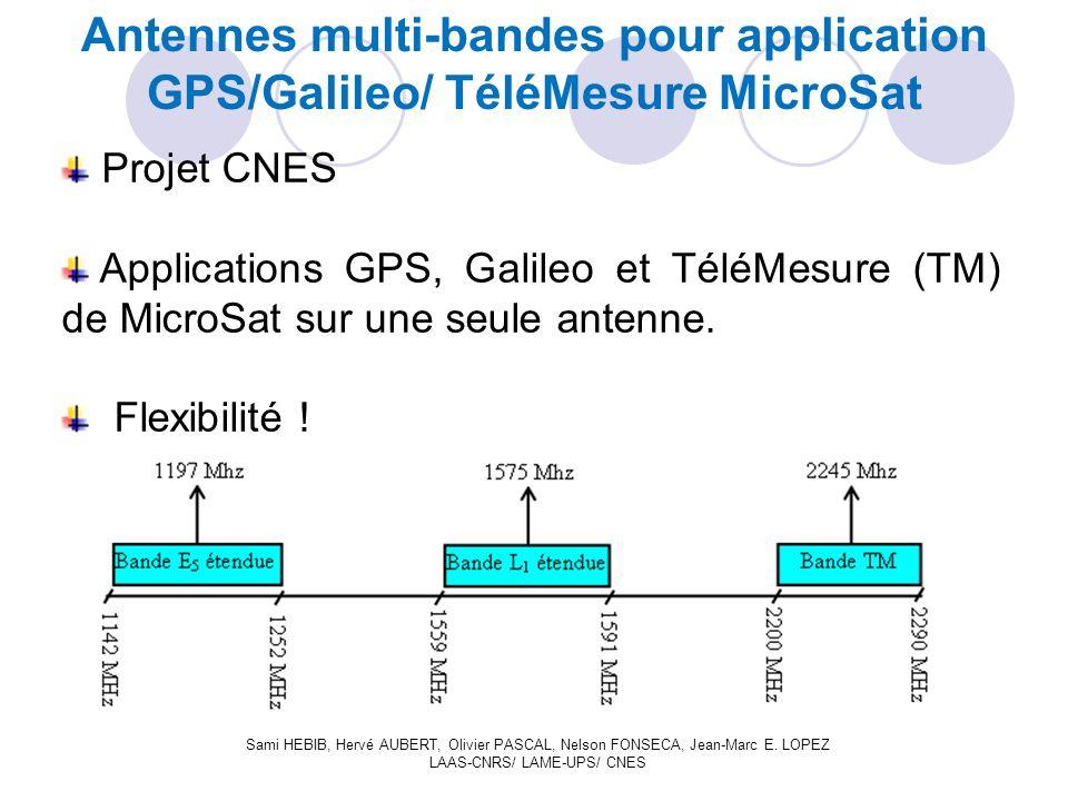 Projet CNES Applications GPS, Galileo et TéléMesure (TM) de MicroSat sur une seule antenne.