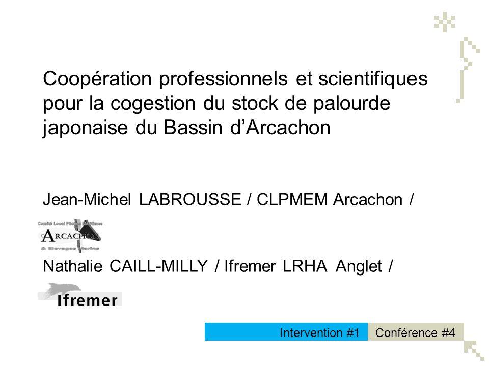 Jean-Michel LABROUSSE / CLPMEM Arcachon / Conférence #4Intervention #1 LOGO N/B Coopération professionnels et scientifiques pour la cogestion du stock