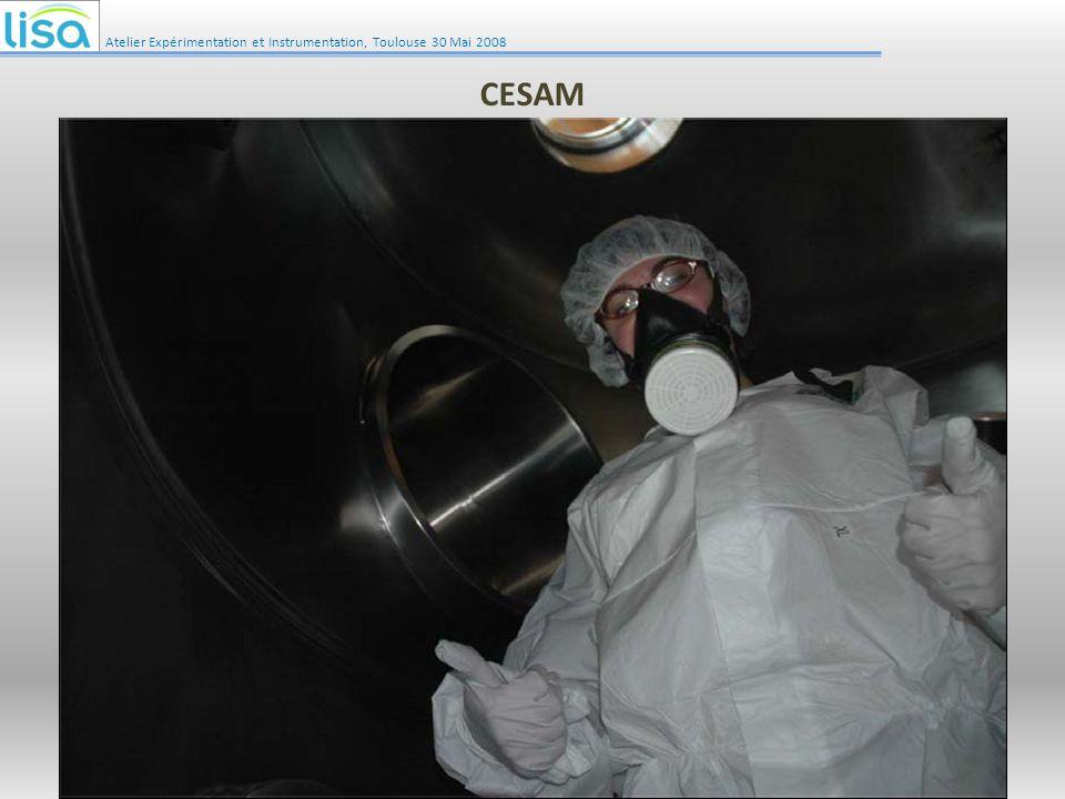 Irradiation Atelier Expérimentation et Instrumentation, Toulouse 30 Mai 2008 3 Lampes XBO 4 kW chacune Lampes à haute pression de Xénon Spectre proche de celui du soleil 3 hublots Quartz : transparent à lUV