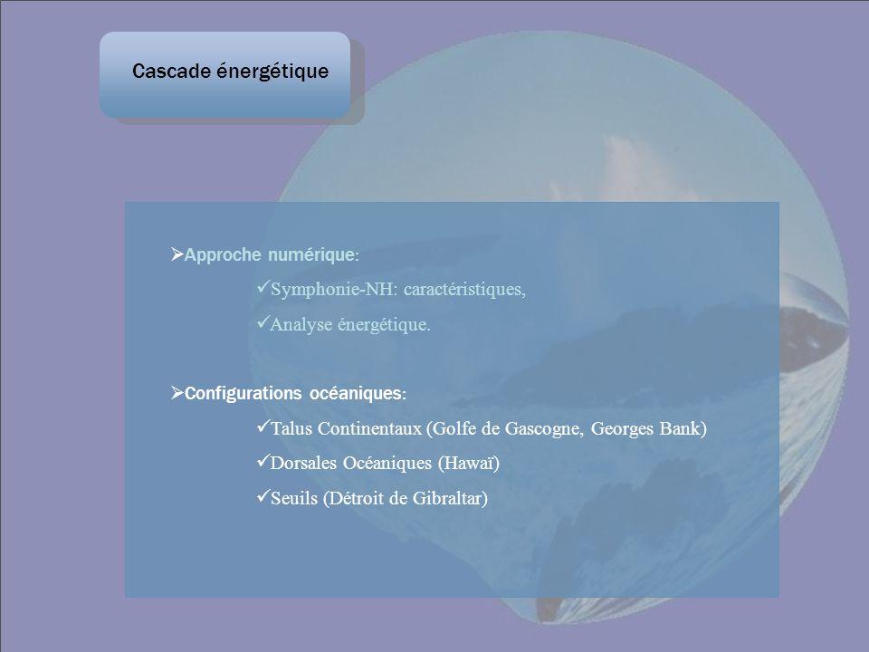 Approche numérique: Symphonie-NH: caractéristiques, Analyse énergétique. Configurations océaniques: Talus Continentaux (Golfe de Gascogne, Georges Ban