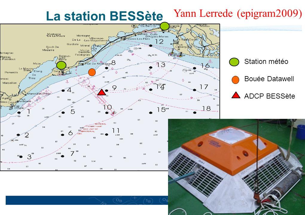 17 EPIGRAM VENT 2009 La station BESSète Station météo Bouée Datawell ADCP BESSète Yann Lerrede (epigram2009)