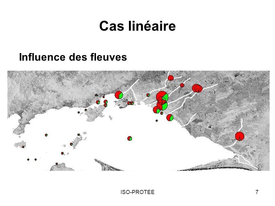 ISO-PROTEE7 Cas linéaire Influence des fleuves