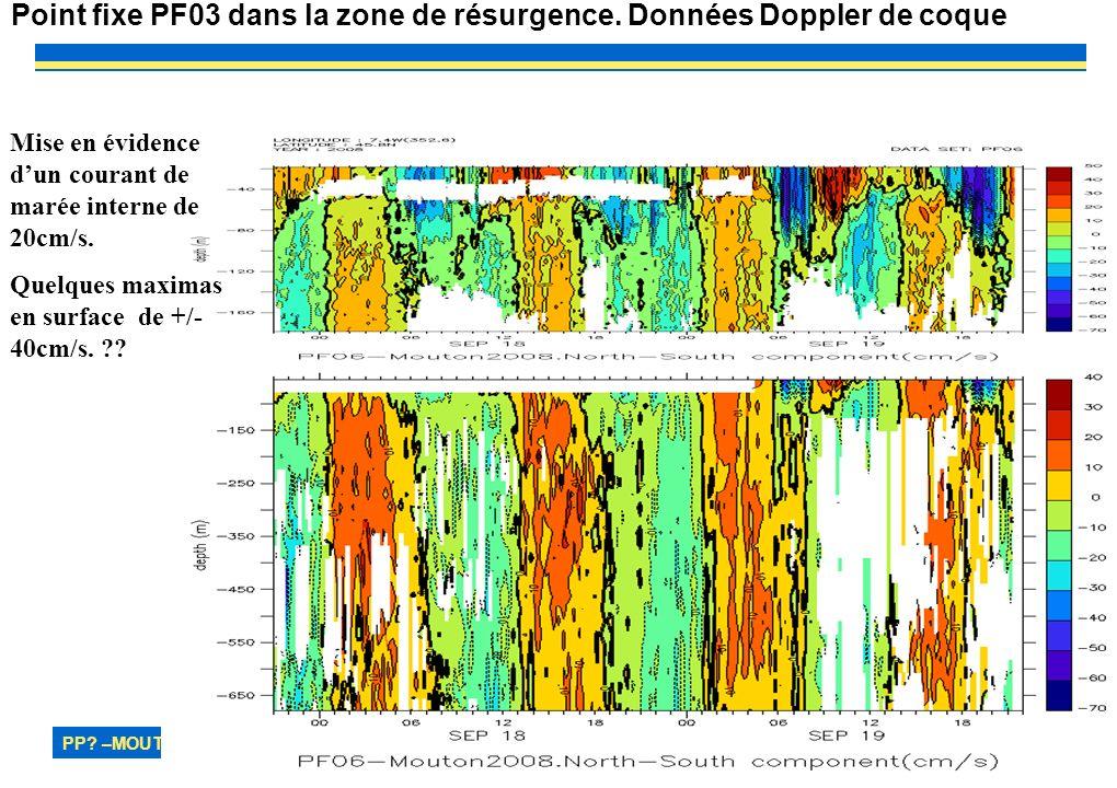 PP. –MOUTON2OO8– MAREE INTERNE 27 Point fixe PF03 dans la zone de résurgence.