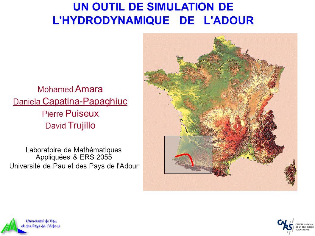 Laboratoire de Mathématiques Appliquées & ERS 2055 Université de Pau et des Pays de l'Adour UN OUTIL DE SIMULATION DE L'HYDRODYNAMIQUE DE L'ADOUR Moha