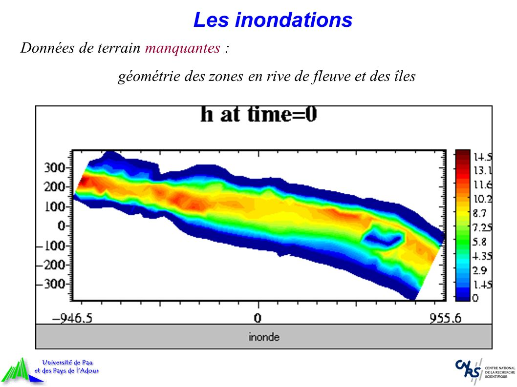 Les inondations Données de terrain manquantes : géométrie des zones en rive de fleuve et des îles
