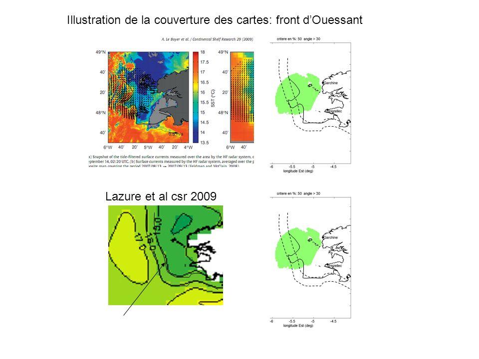 Lazure et al csr 2009 Illustration de la couverture des cartes: front dOuessant