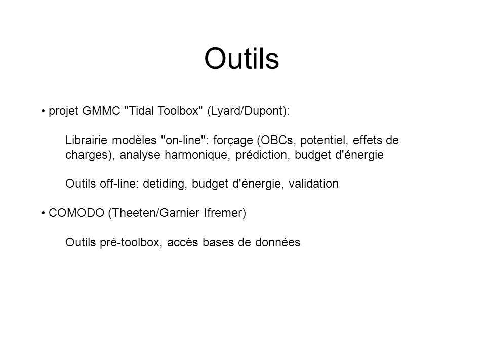 Outils projet GMMC