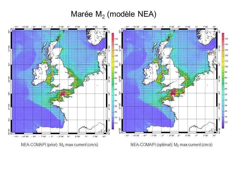 Marée M 4 (modèle NEA) M 4 amplitude (cm) M 4 phase lag (°) M 4 energy flux (w/m) M 4 max current (cm/s) M 4 bottom friction (w/m²)