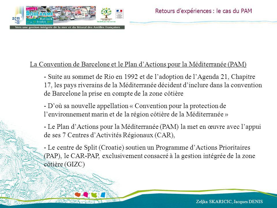 Zeljka SKARICIC, Jacques DENIS Retours dexpériences : le cas du PAM La Convention de Barcelone et le Plan dActions pour la Méditerranée (PAM) - Suite