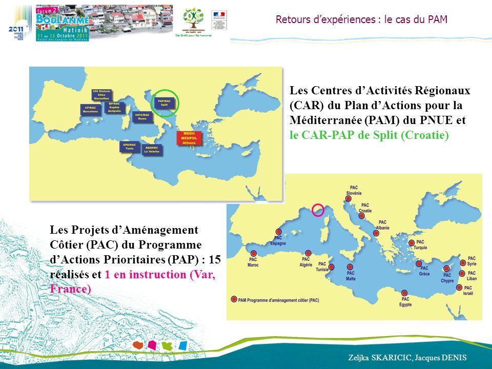 Zeljka SKARICIC, Jacques DENIS Retours dexpériences : le cas du PAM Les Centres dActivités Régionaux (CAR) du Plan dActions pour la Méditerranée (PAM)