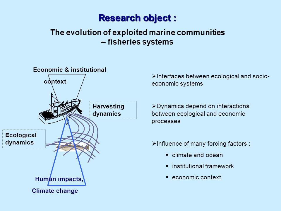 Modélisation Développement de différents types de modèles pour la compréhension des changements observés au sein des systèmes et de leur causes
