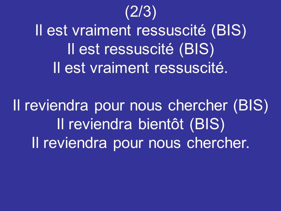 (3/3) Chante alléluia au Seigneur (BIS) Chante alléluia (BIS) Chante alléluia au Seigneur.