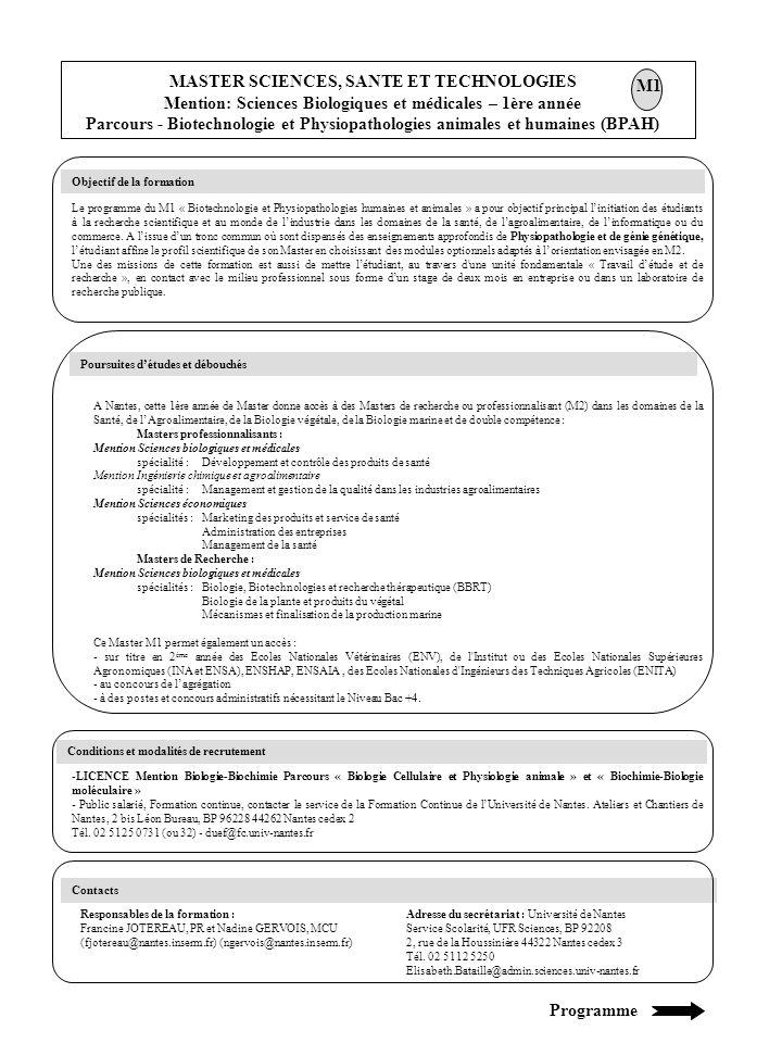 2 Unités dEnseignements Obligatoires (UEF), 1 Unité dEnseignement Spécialisé (UES) et 1 Unité dEnseignement au Choix (UEO) - UE11SBM (10 ECTS - TD 68 h/TP 32h) : Génie génétique (UEF) Enzyme et vecteur de clonage.