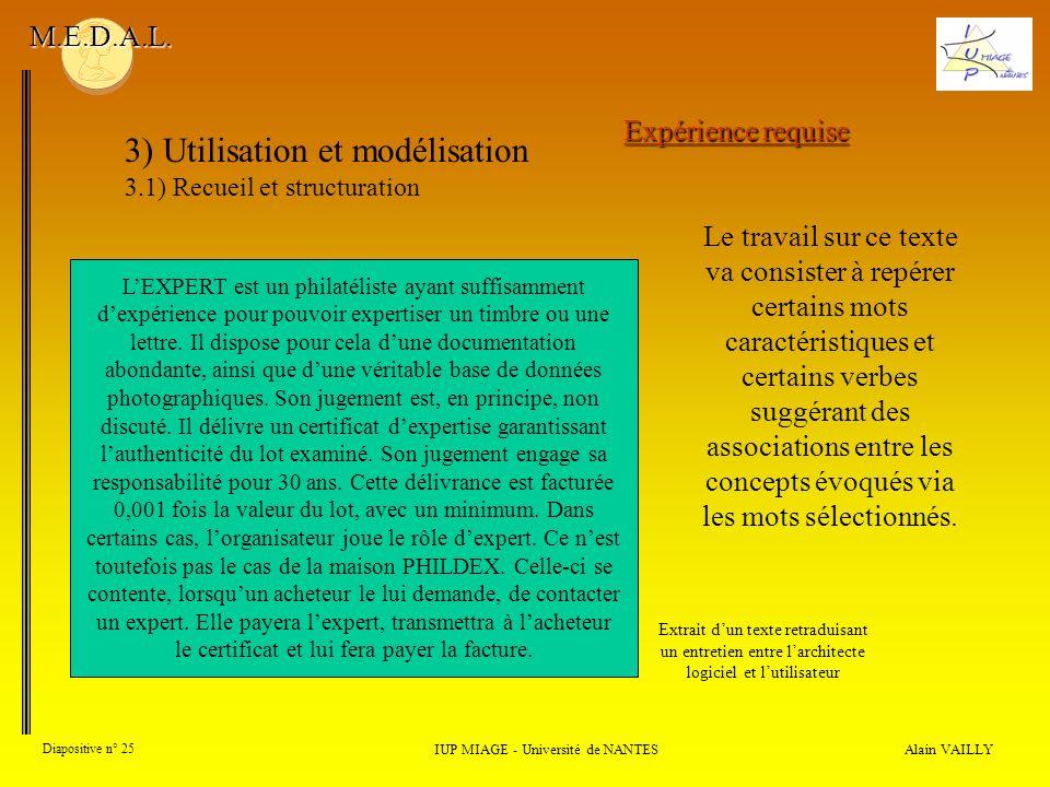 Alain VAILLY Diapositive n° 25 IUP MIAGE - Université de NANTES M.E.D.A.L.