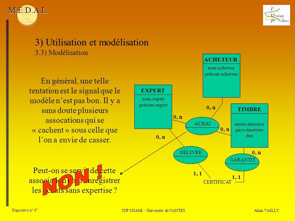 Alain VAILLY Diapositive n° 67 IUP MIAGE - Université de NANTES M.E.D.A.L.