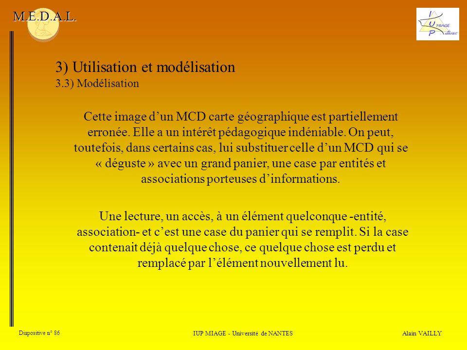 Alain VAILLY Diapositive n° 86 IUP MIAGE - Université de NANTES M.E.D.A.L.