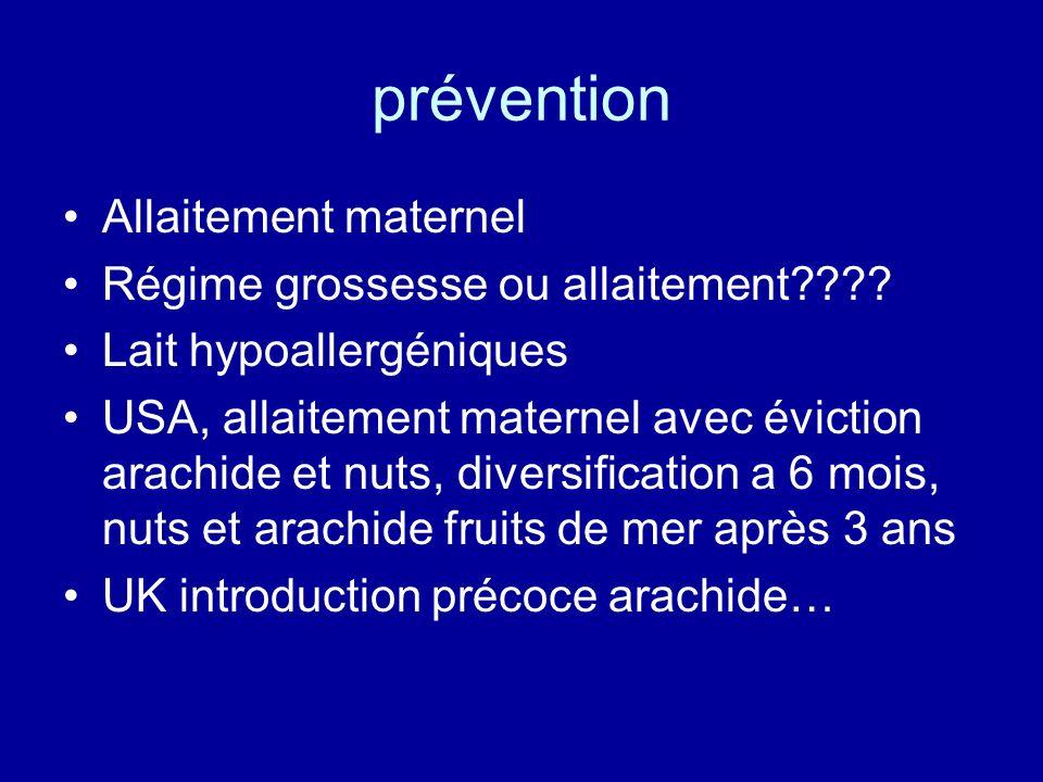 prévention Allaitement maternel Régime grossesse ou allaitement???? Lait hypoallergéniques USA, allaitement maternel avec éviction arachide et nuts, d