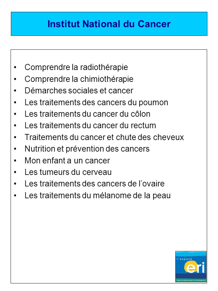 Institut National du Cancer Comprendre la radiothérapie Comprendre la chimiothérapie Démarches sociales et cancer Les traitements des cancers du poumo